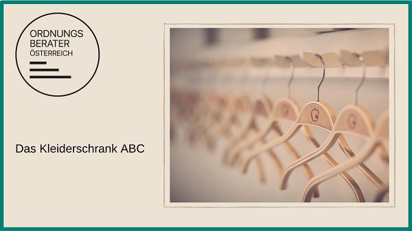Das Kleiderschrank ABC