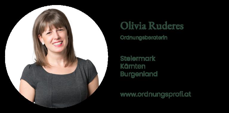 Olivia Ruderes - Ordnungsberaterin Steiermark, Kärnten und Burgenland