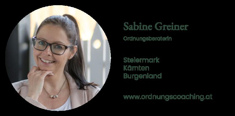 Sabine Greiner - Ordnungsberaterin | Steiermark Kärnten Burgenland